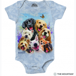 The Mountain - Dog Selfie Baby Onesie