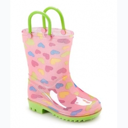 Toddler/Youth Girl's Printed Rain Boot - Hearts
