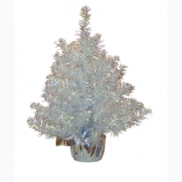 "18"" Silver Iridecent Tree"