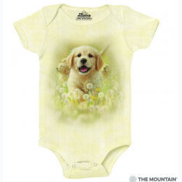 The Mountain - Golden Puppy Baby Onesie