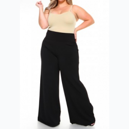 Plus Size Palazzo Pants In Black