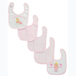 "Baby Girls' ""So Precious, So Sweet"" 5-Pack Bibs - Precious Moments"