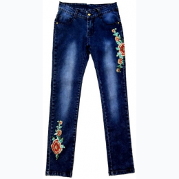 Girl's Floral Embroidered Skinny Jean