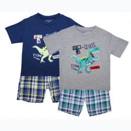Toddler Boy T Rex Short Set