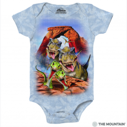 The Mountain - Dino Selfie Baby Onesie