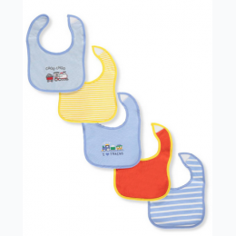 Little Me 5-Pack Bibs - Boys