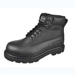 Boy's Leather Upper Insulated Work Boot In Black - Sizes 4.5 - 8