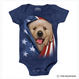 The Mountain - Patriotic Golden Pup Onesie