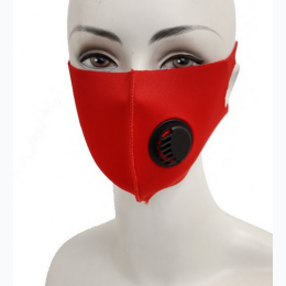Solid Colored Elastic Ear Loop Polyester Face Mask with Breathable Valve
