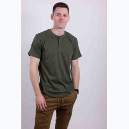 Men's 3-Button Short Sleeve Henley T-Shirt