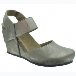 Women's Designer Inspired Wedge In Pewter