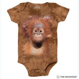 The Mountain - Orangutan Hang Baby Onesie