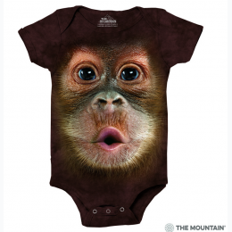 The Mountain - Big Face Baby Orangutan Baby Onesie
