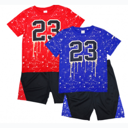 Toddler Boy's Jersey Top with Athletic Shorts